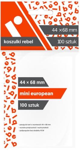 Koszulki na karty Rebel (44x68 mm) Mini European, 100 sztuk