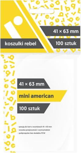 Koszulki na karty Rebel (41x63 mm) Mini American, 100 sztuk