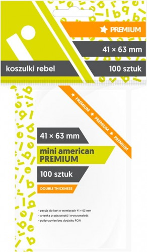 Koszulki na karty Rebel (41x63 mm) Mini American Premium, 100 sztuk