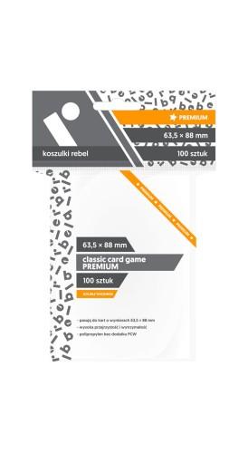 Koszulki na karty Rebel (63,5x88 mm) Classic Card Game Premium, 100 sztuk