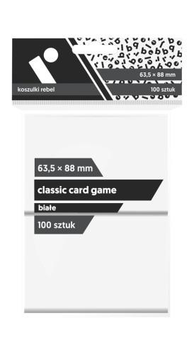 Koszulki na karty Koszulki na karty Rebel (63,5x88 mm) Classic Card Game, 100 sztuk, Białe