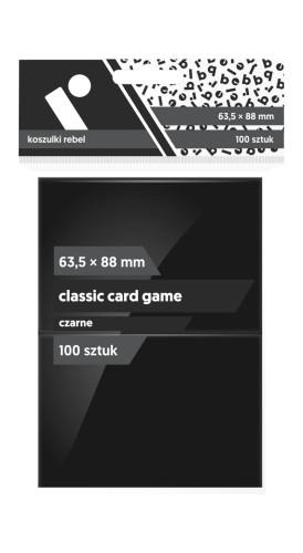 Koszulki na karty Koszulki na karty Rebel (63,5x88 mm) Classic Card Game, 100 sztuk, Czarne