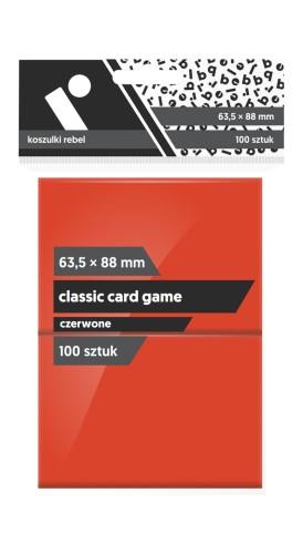 Koszulki na karty Rebel (63,5x88 mm) Classic Card Game, 100 sztuk, Czerwone