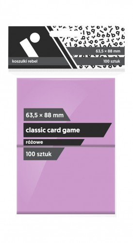 Koszulki na karty Rebel (63,5x88 mm) Classic Card Game, 100 sztuk, Różowe
