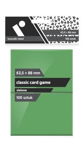 Koszulki na karty Rebel (63,5x88 mm) Classic Card Game, 100 sztuk, Zielone