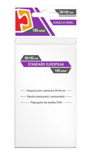 Koszulki na karty Rebel (59x92 mm) Standard European, 100 sztuk